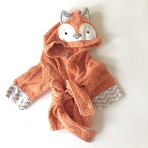 Baby Aspen Orange Terry Fox Bathrobe