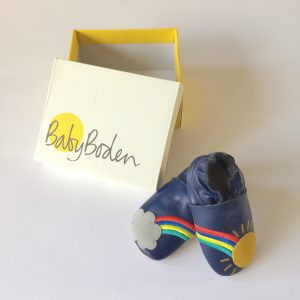Baby Boden Leather Slip-ons for Baby