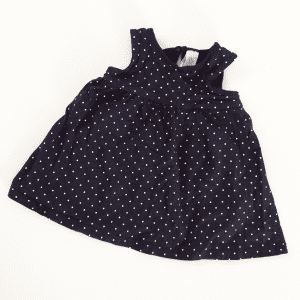 Baby Club Navy with White Polka Dots Dress – 3-6 Months
