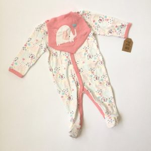 Chick Pea Footed Coverall & Headband Set
