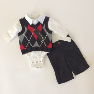 George Baby Boy Sweater Vest Set
