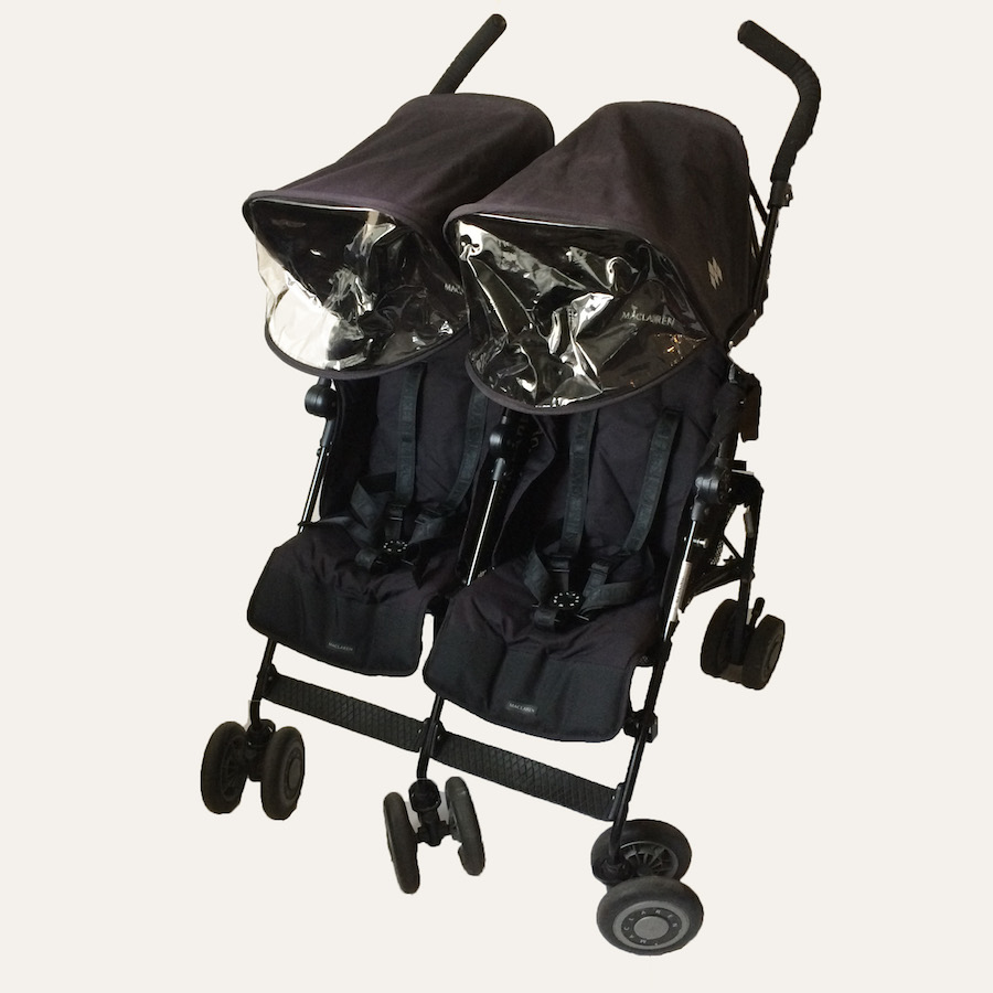 Maclaren Twin Techno Double Stroller - Black - Toycycle ...