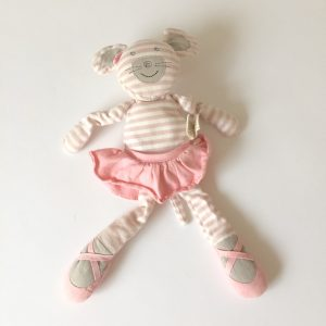 Organic Farm Buddies Plush Toy, Ballerina Mouse