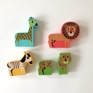 Rigol'animo Savane – 4 Magnet Animals