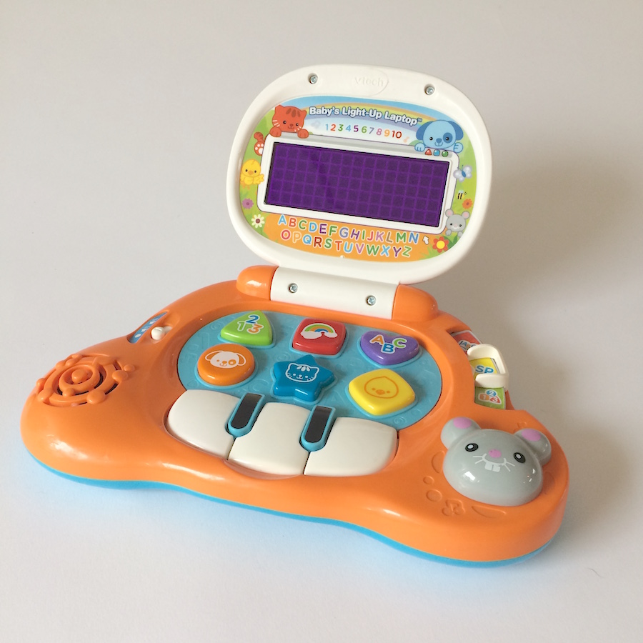 Vtech Baby S Light Up Laptop Toycycle Baby Consignment Store Buy Sell Toys And Baby Gear