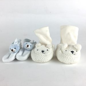 Beary Cute Infant Booties