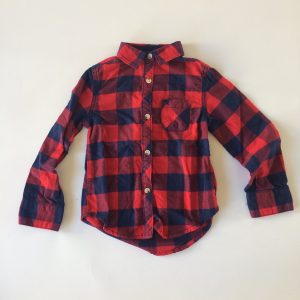 Cat & Jack Flannel Button-up – 4-5 Years