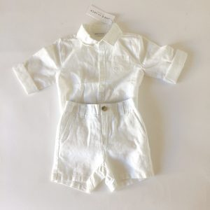 Janie & Jack Button-up Onesie and Short Set – 12-18M