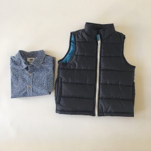 London Fog Puffer Vest with Button-up, 4 Years