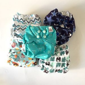 Mama Koala All-In-One One-Size Pocket Diapers – Set of 5