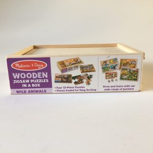 Melissa & Doug Wild Animals Wooden Puzzle Set