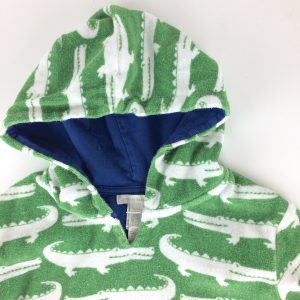 Pottery Barn Kids Crocodiles Swim Cover up Size 4/6