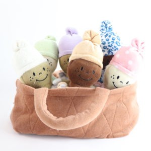 Basket of Babies Plush Doll Play Set