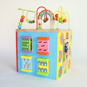 Alex My Busy Town Wooden Activity Cube