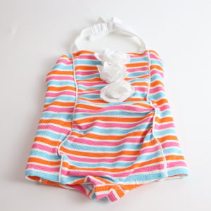 Janie and Jack Striped Swimsuit Size 6-12M