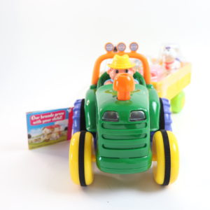 Kidoozie Farm Tractor and Egg Stacking Toy