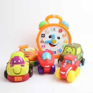 Race Cars and Bilingual Clock Playset