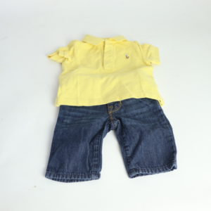 Newborn Jeans and Polo Set 0-3M