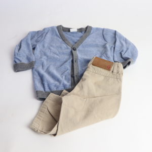 Khaki and Cardigan Set Size 6-9M