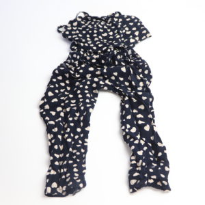 Heart-Print Romper and Button-Up Size 3