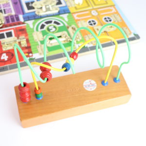 Wooden Puzzle and Bead Maze