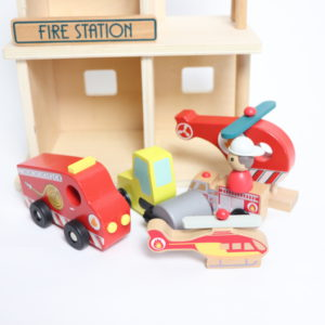 Wooden Firehouse and Accessories