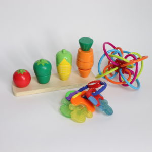 Wooden Stacking Puzzle and Rattle Toys